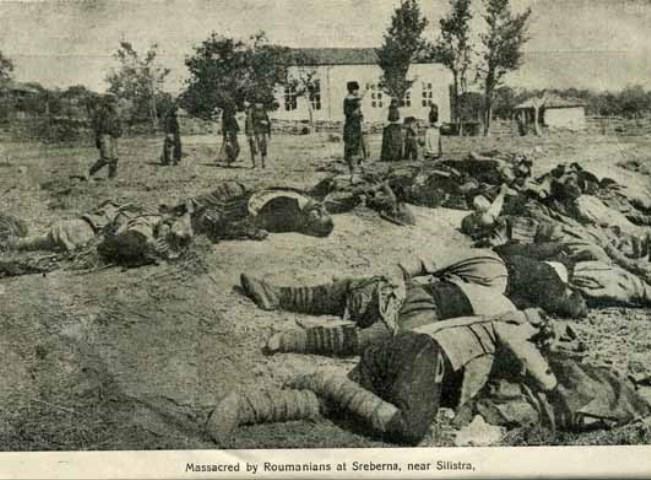 Трупове на избити в Сребърна
