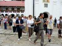 В манастира Агапия в Румъния